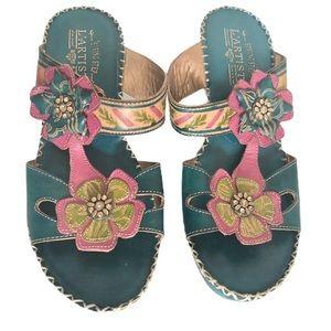 L'ARTISTE Spring Step Floral Sandals